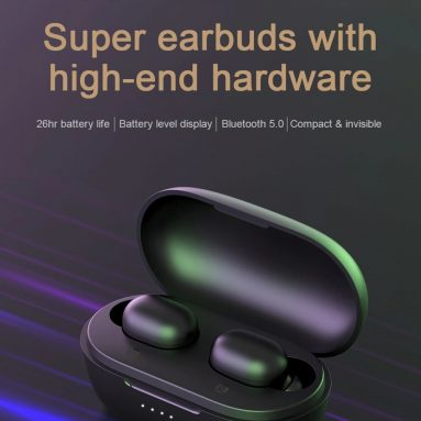 €18 with coupon for Haylou GT1 Pro Bluetooth 5.0 True Wireless Earphones DSP 26 Hours Playtime Siri Google Assistant Battery Display IPX5 Earbuds from GEARBEST