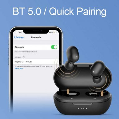 €21 with coupon for Haylou GT1 Pro TWS Wireless bluetooth 5.0 Earphone HiFi Smart Touch 800mAh DSP Noise Cancelling Mic Headphone from xiaomi Eco-System – Black from BANGGOOD