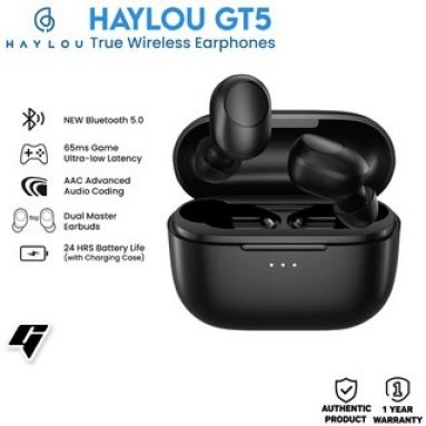 € 20 com cupom para Haylou GT5 TWS bluetooth 5.0 Fones de ouvido AAC HIFI Stereo Game Low Latency Wireless Headphones Smart Touch n-Ear Earbuds com microfone da BANGGOOD