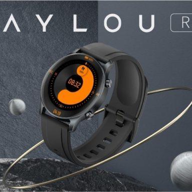 € 57 med kupong for Haylou RS3 Smartwatch Professional Sports Modes 1.2-tommers AMOLED-skjerm Hjertesøvnovervåking 2 uker batterilevetid fra TOMTOP
