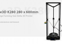$313 with coupon for He3D K280 280 x 600mm Forming Size Delta 3D Printer Kit – BLACK US PLUG from Gearbest