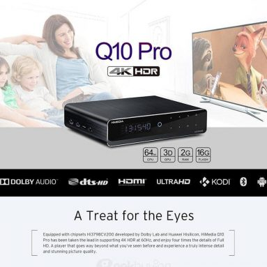 138 € s kupónem pro HQ Q10 Pro Android 7.0 Hi3798CV200 4K HDR 2GB / 16 GB TV BOX 802.11AC WIFI 1000M LAN Dolby DTS-HD 3D Blu-ray 3.5 ″ SATA HDD Bluetooth Media Player EU WAREHOUSE od GEEKBUYING