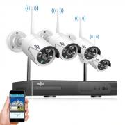 € 92 mit Gutschein für Hiseeu 4CH Wireless NVR 960P-WLAN-CCTV-System IP-Kamera IR-Außenkamera-Sicherheitsüberwachungskit - US-Stecker von BANGGOOD