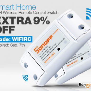 9% OFF pre moduly kompatibilné s Arduino a Smart Home WIFI pre bezdrôtový diaľkový ovládač z firmy BANGGOOD TECHNOLOGY CO., LIMITED