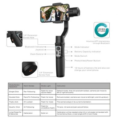 $79 with coupon for Hohem iSteady Mobile 3-Axis Handheld Smartphone Gimbal Stabilizer from TOMTOP