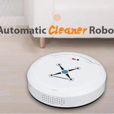 €16 with coupon for Home Smart Ultra-thin Small Charging Sweeping Robot – BLACK from GearBest