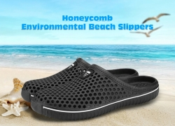 $0.99 with coupon for Honeycomb Environmental Beach Slippers from GearBest