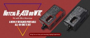 $32 with coupon for Hotcig R – AIO 80W TC Kit with Mini Atomizer – Cloudy Gray from GearBest