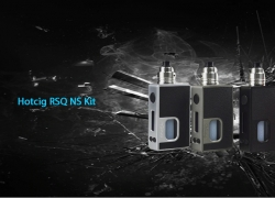 $41 with coupon for Hotcig RSQ NS Kit Supporting 1pc 18650 Battery – BLACK from GearBest