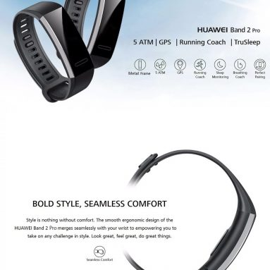 $45 with coupon for Huawei Band 2 Pro GPS Sports Smart Bracelet from GearBest