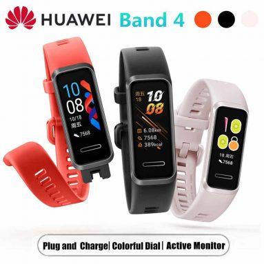 € 32 na may kupon para sa Huawei Band 4 Buong Touch Screen ng Wristband Puso ng Puso SPO2 Monitor Maramihang Wika USB Nagcha-charge sa Smart Watch Intsik na Bersyon - Itim mula sa BANGGOOD