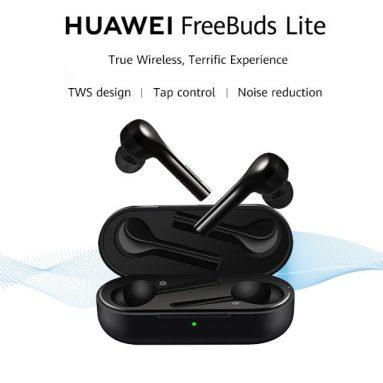 € 47 Huawei FreeBuds Lite için kupon ile TWS Kablosuz bluetooth Kulaklık HiFi Stereo Akıllı Dokunmatik 4 MEMS Mic IP54 Şarj Kutusu ile Su Geçirmez Kulaklık - Siyah BANGGOOD
