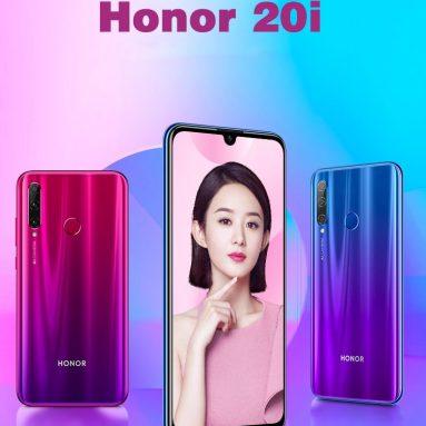 € 151 עם קופון עבור Huawei כבוד 20i 6.21 אינץ 32MP מצלמה קדמית 6GB 64GB קירין 710 הליבה אוקטה 4G Smartphone מ בנגוד