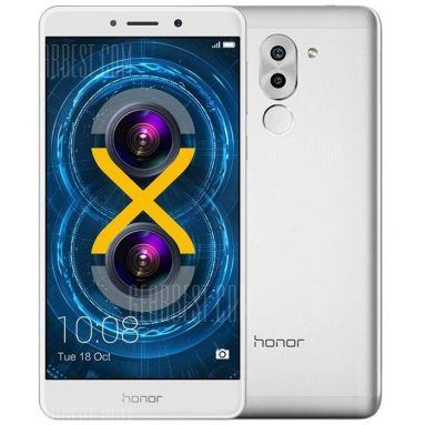 $159 flashsale for Huawei Honor 6X 4G Phablet Global Version  –  SILVER from GearBest