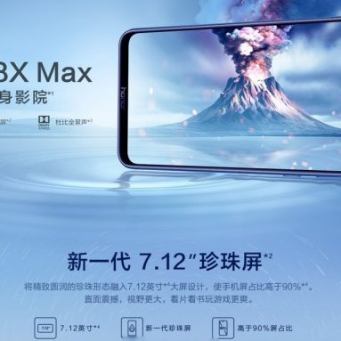 €216 with coupon for Huawei Honor 8X Max 4GB RAM 64GB ROM 4G Smartphone – Blue from BANGGOOD