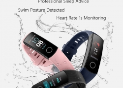 $25 with coupon for Huawei Honor Band 4 Smart Wristband Amoled Color Screen from GEARVITA