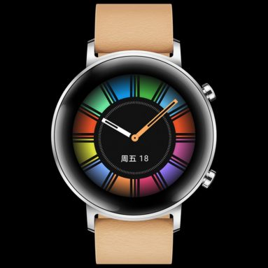 €232 with coupon for [bluetooth 5.1] Huawei WATCH GT 2 Fashion Version 42MM Wristband Kirin A1 Chip 15 Sport Modes Music Playback Health Monitor Smart Watch from BANGGOOD