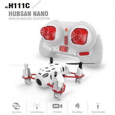 $ 24 với phiếu giảm giá cho Hubsan H111C Mini Nano 2.4G 4CH RC Quadcopter - RED VỚI WHITE từ GearBest