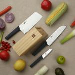 25 € cu cupon pentru HuoHou 4 buc Set de cuțite de bucătărie antiaderente din oțel inoxidabil Chef cuțit Tăietor tăietor tăietor Slicer cuțit de fructe Lama din depozitul UE CZ BANGGOOD