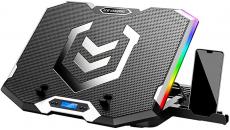 € 30 med kupon til ICE COOREL Gaming Laptop Cooler RGB Cooling Pad Radiator USB 6 Fans Computer Stand med mobiltelefonholder til under 21 ″ Laptop fra BANGGOOD