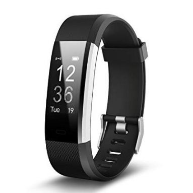 €5 with coupon for ID115 Plus 0.96 Inch Smart Bracelet – BLACK from GearBest