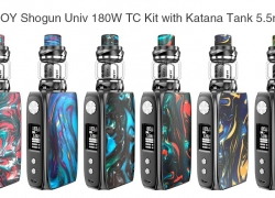 $45 with coupon for IJOY Shogun Univ 180W TC Kit with Katana Tank 5.5ml – DEEP SKY BLUE from GearBest