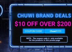 GearBest 11.11 Sale Storm for CHUWI PCs and TABLETS products $10 off over $200