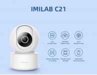 € 35 com cupom para IMILAB C21 4MP 2.5K WIFI Smart Home IP Camera Baby Monitor Trabalhe com Alexa PTZ Detecção humana e monitoramento de visão noturna, intercomunicador de voz, monitor de segurança em nuvem e armazenamento local de BANGGOOD