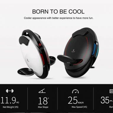 € 304 med kupon til INMOTION V5F 4.0Ah Batteri Elbalance Unicycle - BLACK EU PLUG fra GearBest