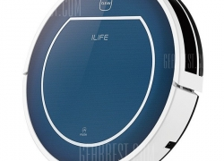 $88 with coupon for ILIFE V7 Super Mute Sweeping Robot Home Vacuum Cleaner Dust Cleaning with 2600mAh Li – battery – BLUE from GearBest
