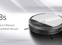 $ 199 Ilife için kuponlu V8S LCD Ekranlı Robotik Süpürge - GearBest'ten PLATINUM AB depo
