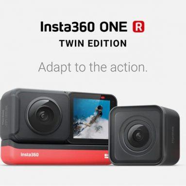 $ 420 na may kupon para sa Insta360 ONE R 5.7K Panoramic Action Camera 4K 60fps Wide Angle FlowState Anti-shake IPX8 Waterproof Ultra-HD Sports DV mula sa GEARBEST