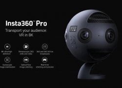 €3099 with coupon for Insta360 Pro 8K Spherical VR Camera – BLACK WITH EXTERNAL BATTERY from GearBest