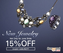 15% OFF for Jewelry New Arrival Sale from BANGGOOD TECHNOLOGY CO., LIMITED