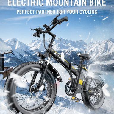 1088 يورو مع كوبون لـ Janobike E20 1000W Electric Mountain bike Bike 12.8AH بطارية قابلة للإزالة مع شوكة تعليق من مستودع EU GER TOMTOP