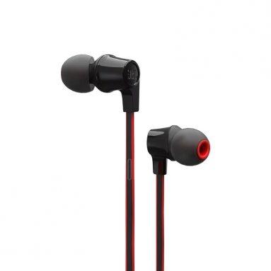$ 10 z kuponem na słuchawki JBL T120A Słuchawki douszne z wbudowaną mikrofonem - CZARNY od GearBest