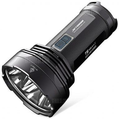 $ 99 z kuponem na JETBeam T6 4 x CREE XP - L 4350Lm Latarka na policję LED - BLACK frm GearBest