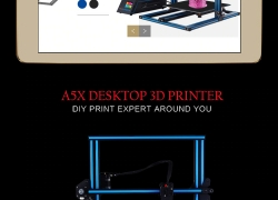 €303 with coupon for JGAURORA A5X 3D Printer Kit Printing – SKY BLUE EU PLUG from GearBest