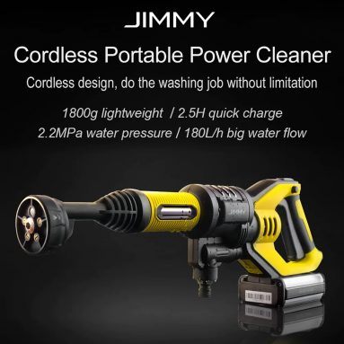 €125 with coupon for Jimmy JW31 Powerful Handheld Rechargeable Flush Gun Cleaning Tool – MULTI-A 220V EU PLUG from GearBest