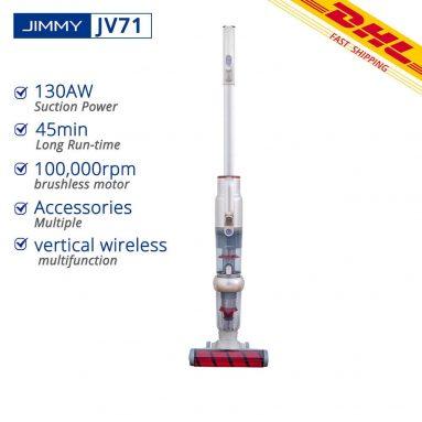 143 € με κουπόνι για JIMMY JV71 Upright Stick Ηλεκτρική σκούπα χειρός χωρίς καλώδιο 18kpa 130AW Ισχυρή αναρρόφηση ελαφριά για οικιακό σκληρό δάπεδο Carpet Car Pet από την αποθήκη CZ BANGGOOD