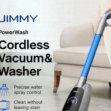 199 € con cupón para la aspiradora y lavadora JIMMY PowerWash HW8 Cordless Dry Wet Smart del almacén de la UE GEEKMAXI