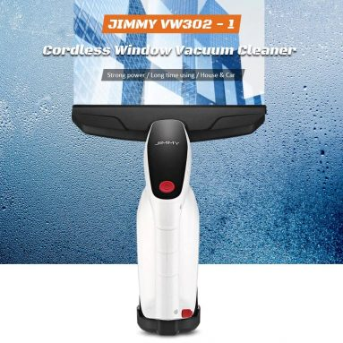 $53 with coupon for JIMMY VW302 – 1 Cordless Window Glass Vacuum Cleaner with Squeegee / Spray Bottle – WHITE from GearBest