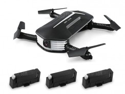 $38 with coupon for JJRC H37 MINI BABY ELFIE Foldable RC Drone – RTF  –  WITH THREE BATTERIES  BLACK from GearBest