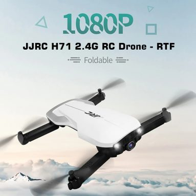 €56 with coupon for JJRC H71 2.4G Foldable RC Drone – RTF – BLACK from GEARBEST