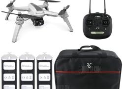 159 avec coupon pour JJRC JJPRO X5 5G Drone WiFi FPV WiFi Positionnement Altitude Hold Caméra 1080P - GRIS CLAIR AVEC PILES 3 + SAC 1 de GearBest