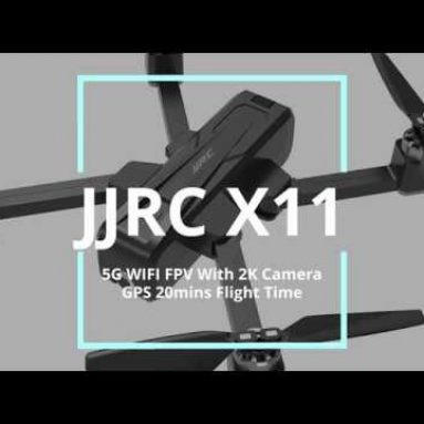 €139 with coupon for JJRC X11 5G WIFI FPV With 2K Camera GPS 20mins Flight Time Foldable RC Drone Quadcopter RTF from BANGGOOD