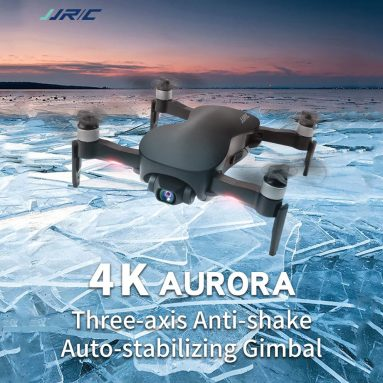 €234 with coupon for JJRC X12 Foldable Drone 5G WiFi 4K Smart Control HD Camera Stabilizing Platform – Black 4K 1 Battery from GEARBEST