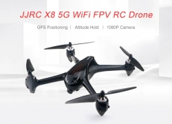 $123 with coupon for JJRC X8 5G WiFi 1080P Camera FPV RC Drone GPS Positioning Altitude Hold Quadcopter from GearBest