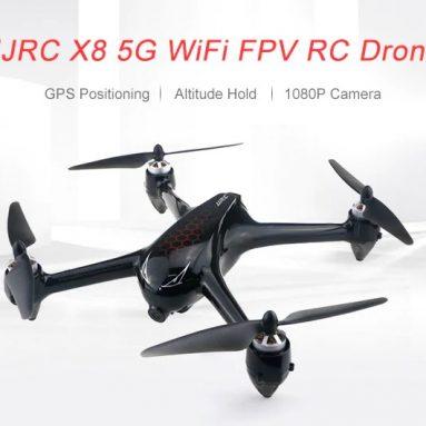 $ 119 với phiếu giảm giá cho JJRC X8 5G WiFi 1080P Máy ảnh FPV RC Drone GPS Định vị GPS Độ cao Giữ BÓNG BẠC ĐEN BẠCH