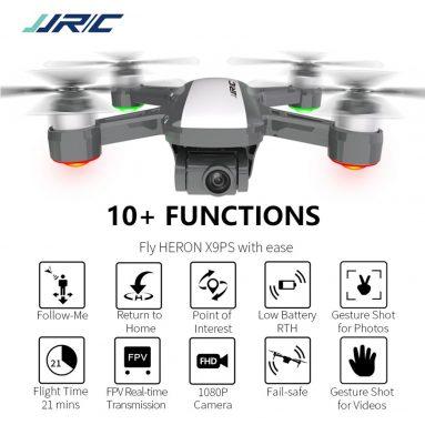 214 € s kupónem pro JJRC X9PS 4K 5G WIFI FPV Dual GPS RC Drone s 2-osým Gimbal RTF - Bílé tři baterie s taškou od GEEKBUYING